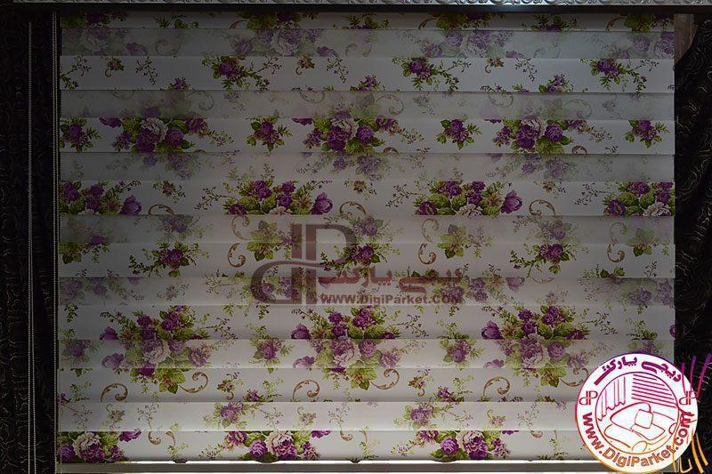 پرده زبرا گل چاپی زردوز خوش سایه کالیته 28-1 کد ZBB 12001