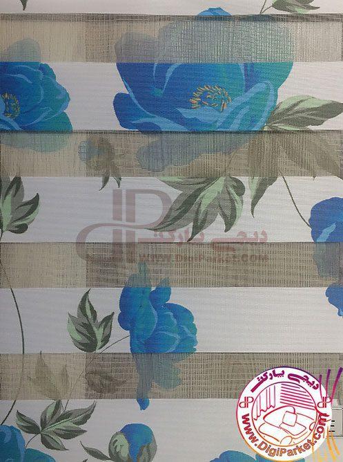 پرده زبرا گل رز آبی خوشسایه گل رز آبی