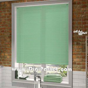 پرده کرکره فلزی سبز ساده   ۱۶ میلیمتری P016