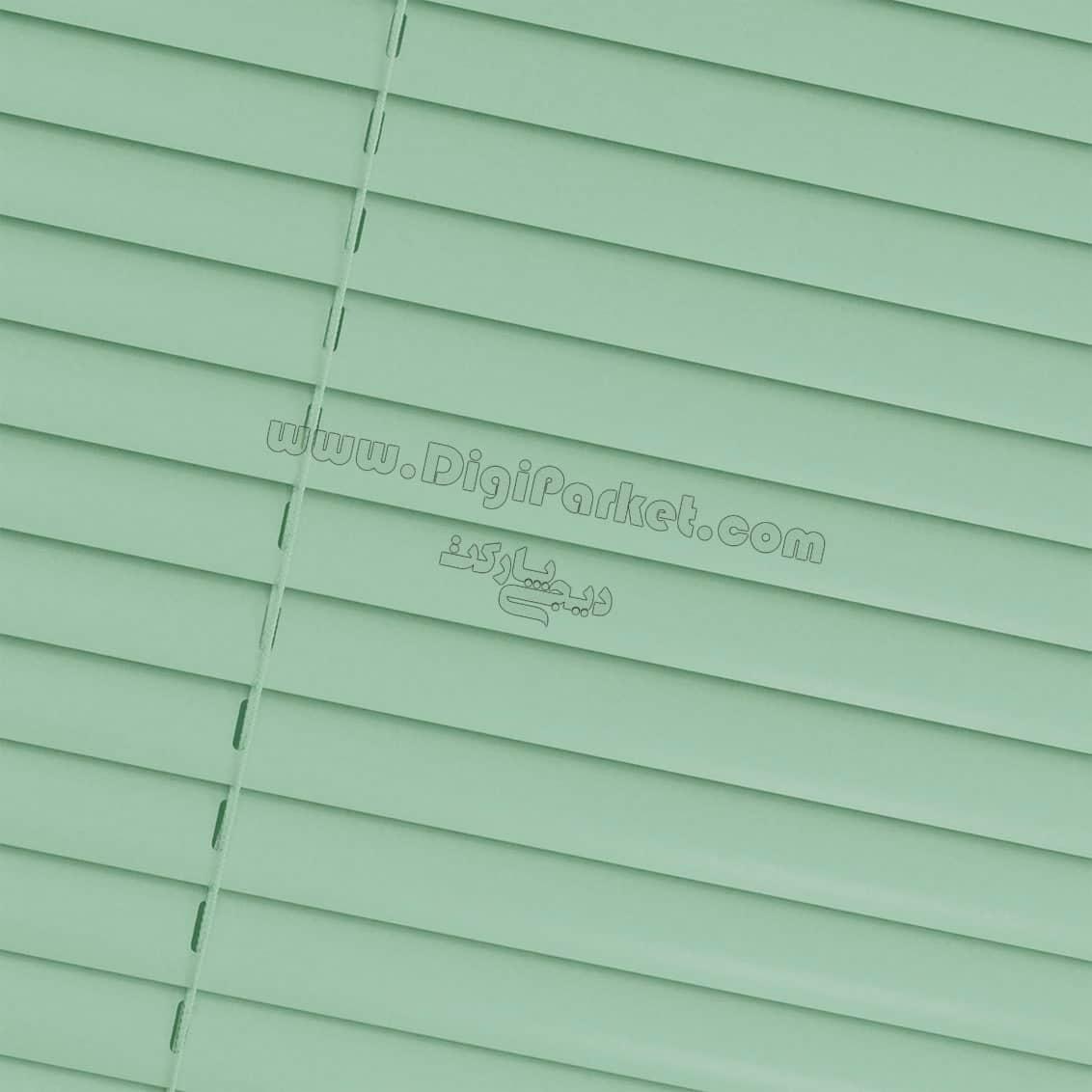 پرده کرکره فلزی سبز روشن ساده  خوش سایه