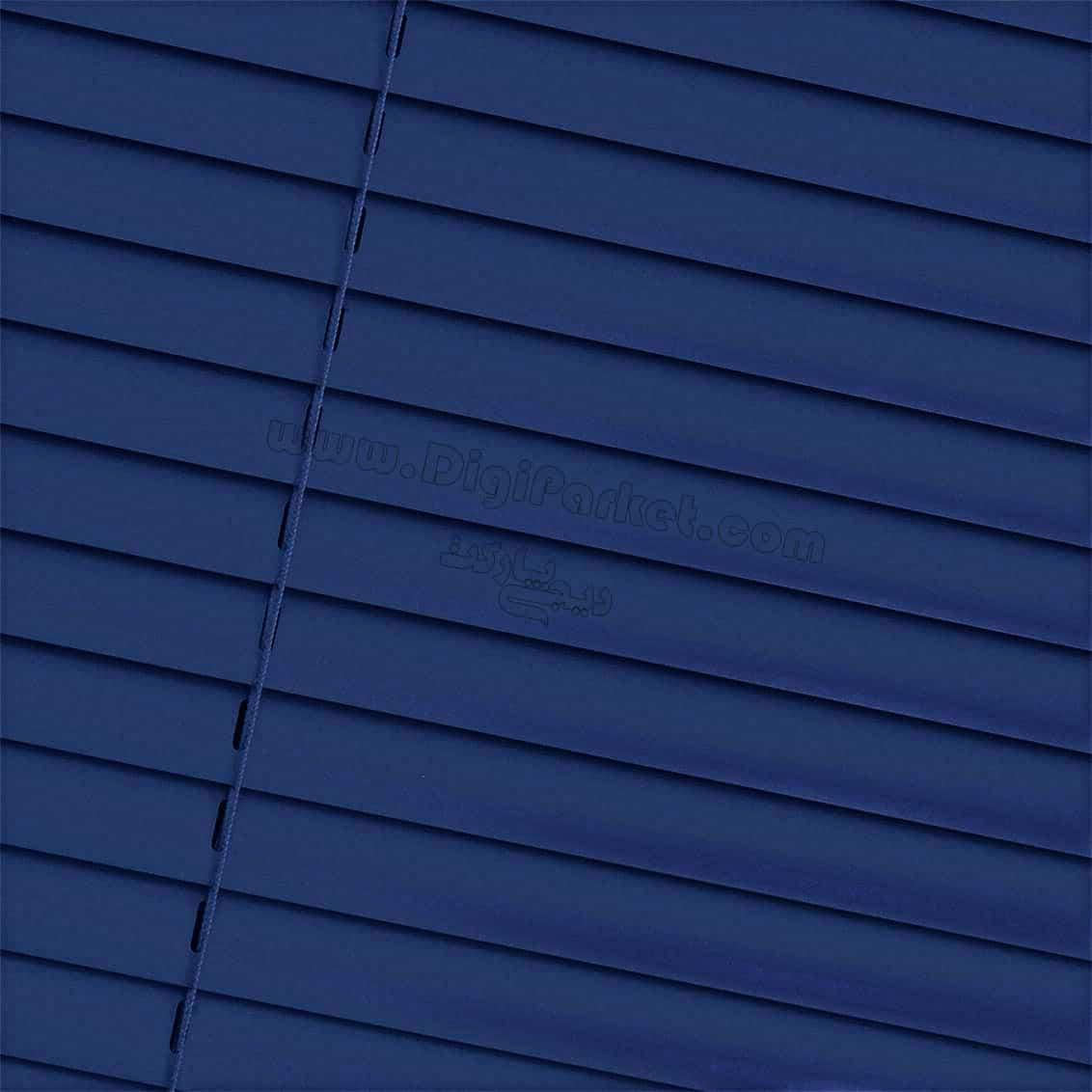 پرده کرکره فلزی آبی کاربنی مات  خوش سایه