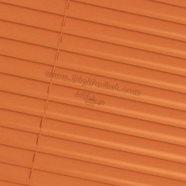 پرده کرکره فلزی نارنجی ساده  خوش سایه