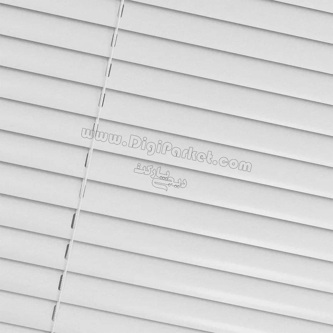 پرده کرکره فلزی سفید یخچالی ساده  خوش سایه