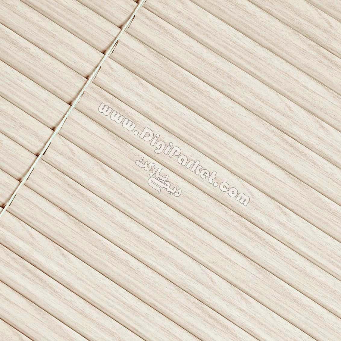 پرده کرکره فلزی طرح چوب سفید کرم  خوش سایه