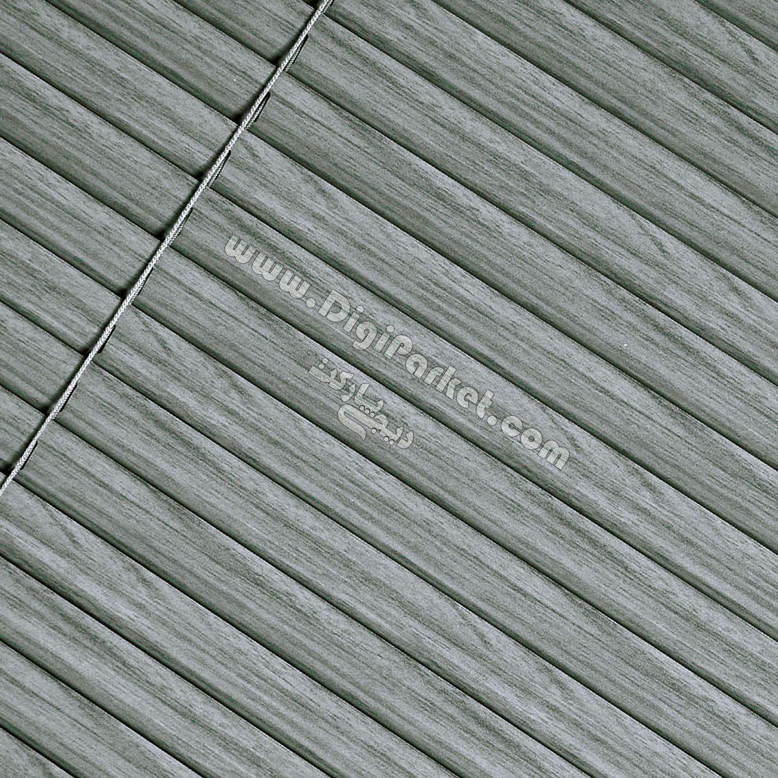پرده کرکره فلزی طرح چوب سیاه سفید  خوش سایه