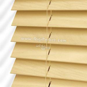 پرده کرکره چوبی زرد رنگ خوش سایه تبریز