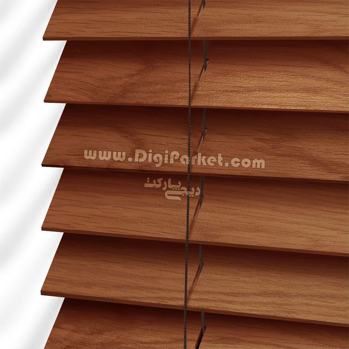 پرده کرکره چوبی قرمز رنگ  خوش سایه