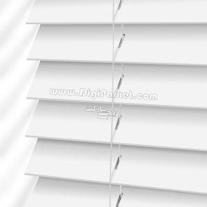 پرده کرکره چوبی سفید رنگ خوش سایه تبریز