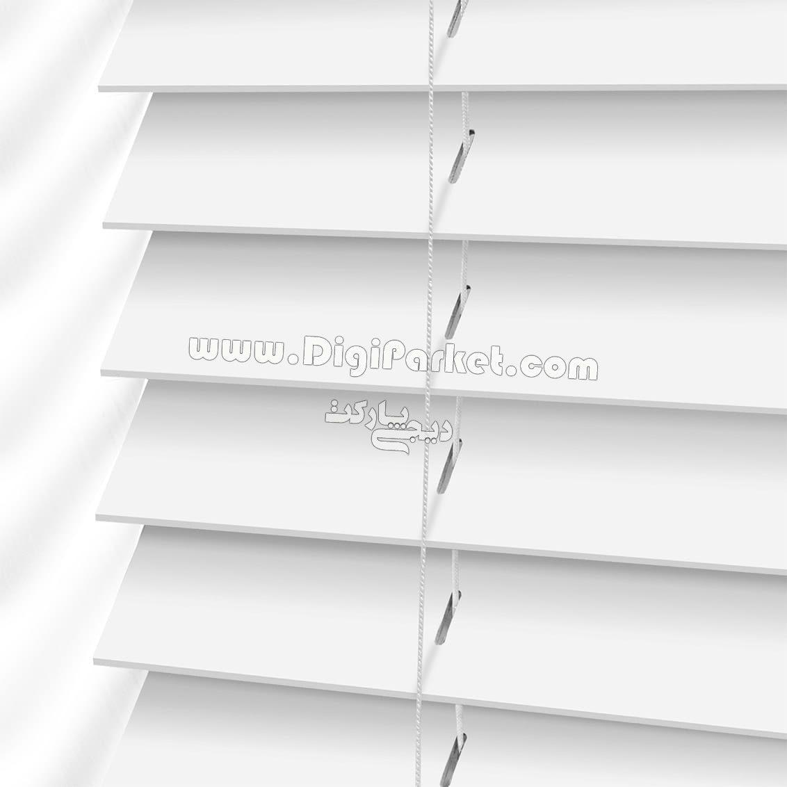 پرده کرکره چوبی سفید رنگ  خوش سایه