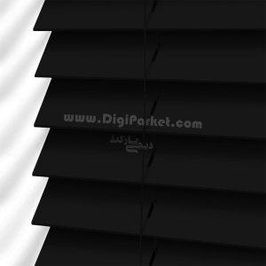 پرده کرکره چوبی سیاه رنگ خوش سایه تبریز