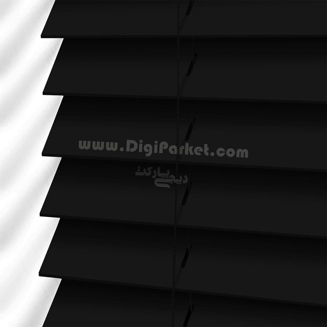 پرده کرکره چوبی سیاه رنگ  خوش سایه