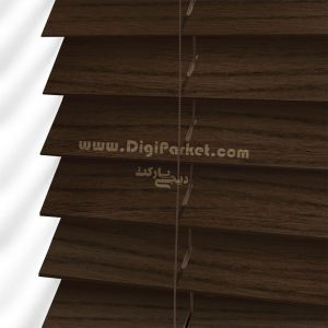 پرده کرکره چوبی قهوه ای سوخته خوش سایه تبریز