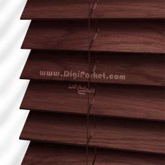 پرده کرکره چوبی زرشکی