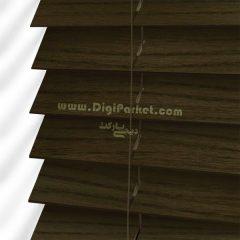 پرده کرکره چوبی زیتونی