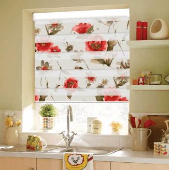 پرده آشپزخانه : چگونه از پرده زبرا و پرده کرکره ای در آشپزخانه استفاده کنیم؟