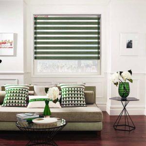 پرده زبرا بامبو رنگ سدری ۲۵۰ در ۱۶۰ تک سایز تحویل فوری