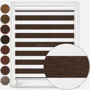 پرده زبرا بامبو قهوهای ارزان آلبوم ۶۳ با ۸ رنگ مختلف