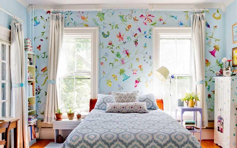 انتخاب کاغذ دیواری مناسب برای خانه های کوچک و نقلی