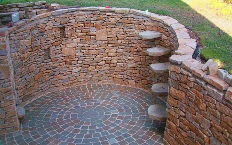 طراحی نما با سنگ سنداستون