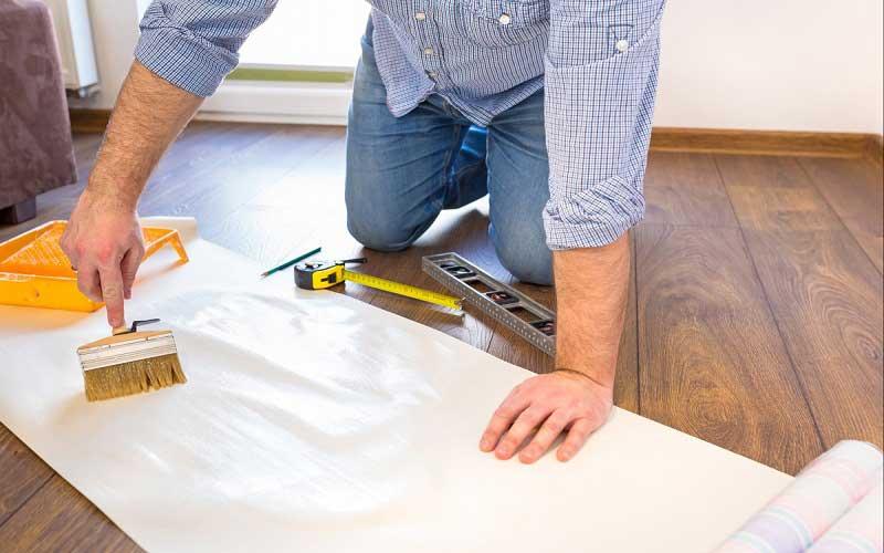 نصب کاغذ دیواری سه بعدی
