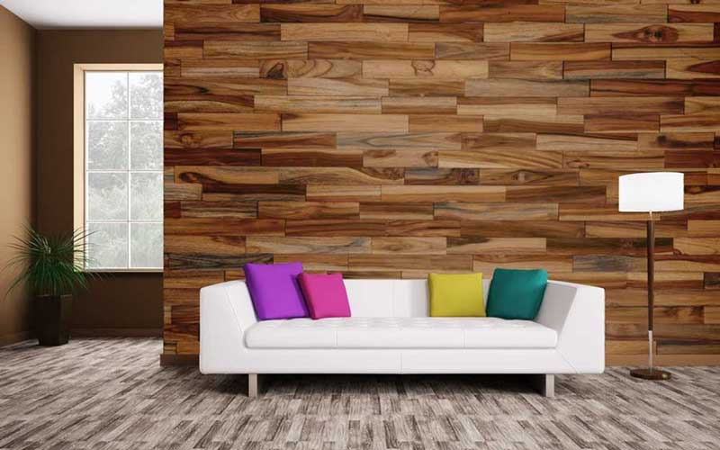 انواع کاغذ دیواری طرح چوب