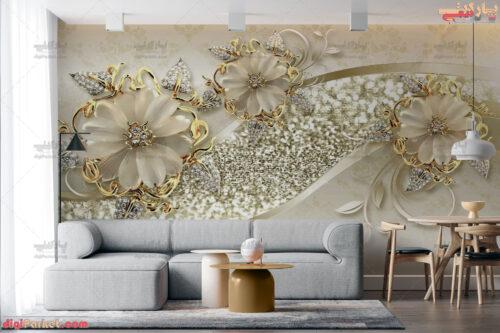 پوستر دیواری جواهر گل