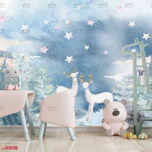 پوستر دیواری طرح گوزن مناسب اتاق کودک