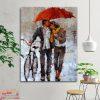 تابلو بوم و شاسی نقاشی عاشقانه زیر بارون کد love-01